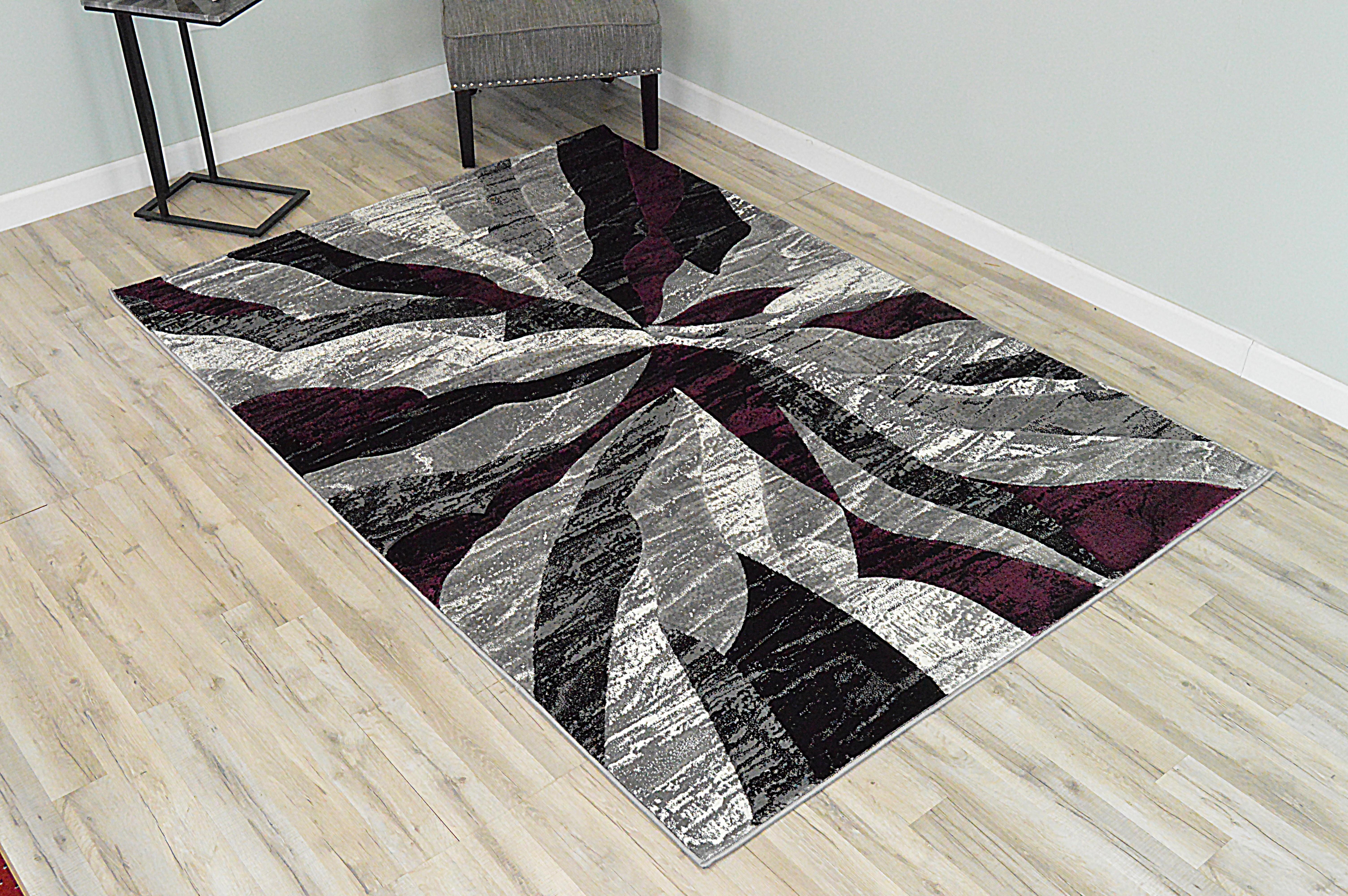 Orren Ellis Ilkley 3d Effect Thick Modern Contemporary Abstract Purple Area Rug Wayfair