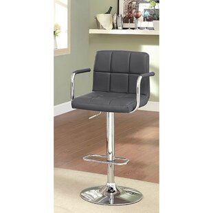 Mendon Adjustable Height Swivel Bar Stool by Orren Ellis