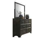 Anadolu 7 Drawer Double Dresser with Mirror by Ivy Bronx
