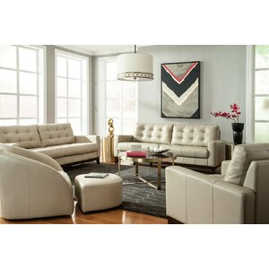 Erdman Leather Configurable Living Room Set