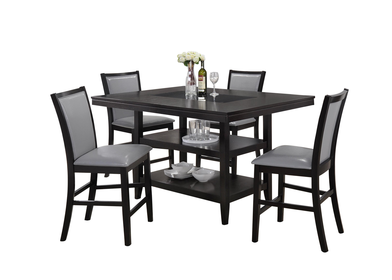 5 Piece Black Kitchen Table Set - home interior design trends