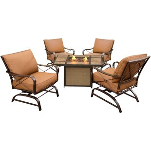 Eva 5 Piece Conversation Set with Cushions