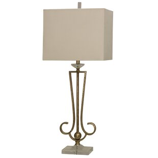 Theirry Crystal and Steel 38.75 Table Lamp