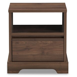 Rowden Contemporary 1 Drawer Nightstand by Winston Porter