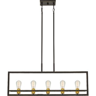Wrought Studio Theophania 5-Light Square/Rectangle Chandelier