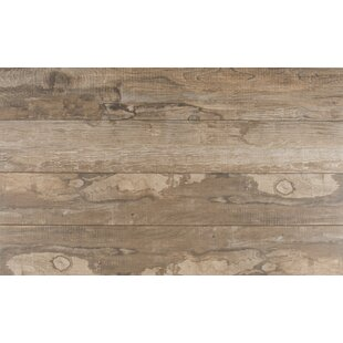 Salvage 6 X 40 Porcelain Wood Tile In Glazed Brown