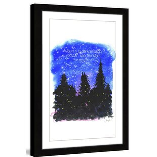 Night in the Woods' by Phyllis Harris Framed Graphic Art by Marmont Hill