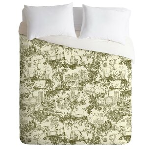 East Urban Home Farm Land Toile in Vintage Duvet Cover Set