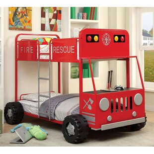 Fire Engine Twin Bunk Bed by Hokku Designs Best Choices