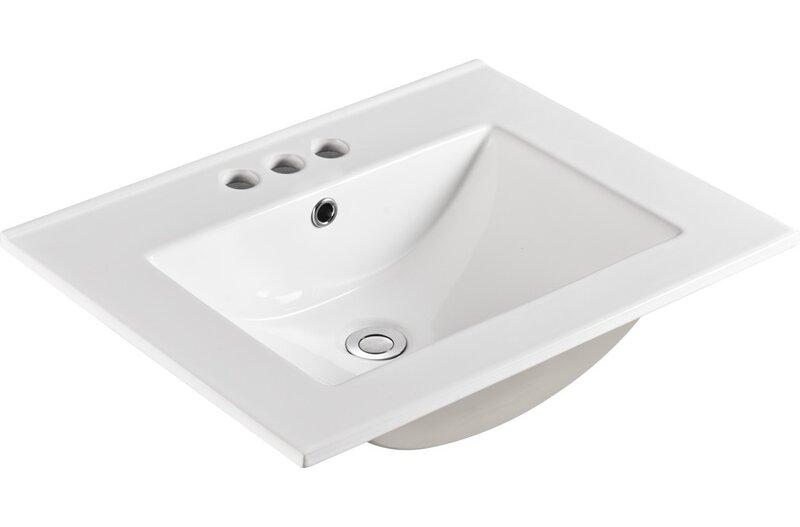 Bellaterra Home Ceramic 24 Single Bathroom Vanity Top Reviews Wayfair