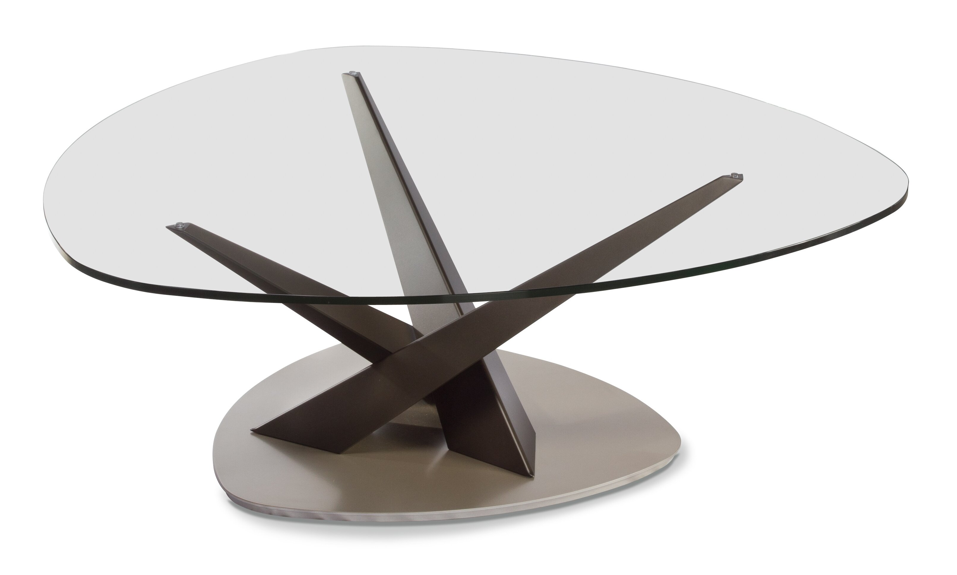 EliteModern Crystal Triangular Coffee Table & Reviews