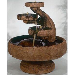 Henri Studio Centerpiece Concrete Mill Tier Cascade Fountain