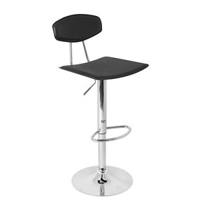 Archer Adjustable Height Swivel Bar Stool by Wade Logan