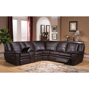 Lizabeta Leather Reclining Sectional by Red Barrel Studio