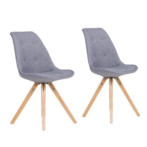 Esszimmerstuhl-Set California Massivum Polsterfarbe: Grau   Küche und Esszimmer > Stühle und Hocker   Massivum