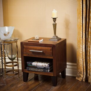 Compare prices Davisson 1 Drawer Nightstand By Alcott Hill