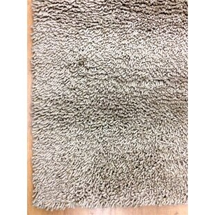 Shag Eyeball Smoke Woolen Hand Knotted Off White Area Rug By Eastern Weavers
