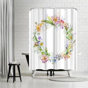 Harrison Ripley Floral Wreath Single Shower Curtain