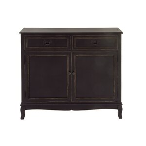 Wood 2 Drawer 2 Door Accent Cabinet