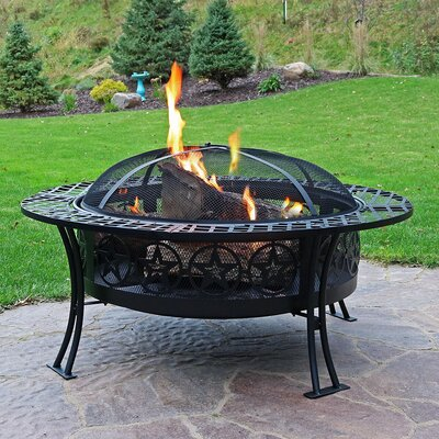Outdoor Fireplaces & Fire Pits You'll Love in 2020 | Wayfair on Quillen Steel Wood Burning Outdoor Fireplace id=26169