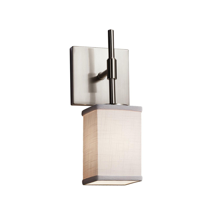 Ebern Designs Alhan 1 Light Dimmable Brushed Nickel Armed Sconce Wayfair