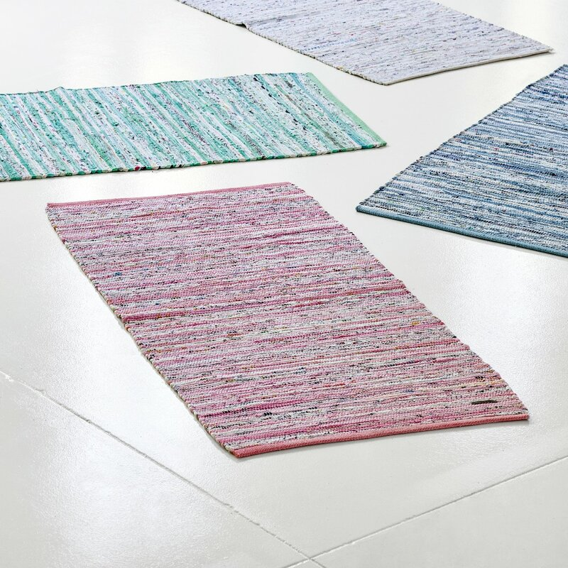 rug solid handgewebter teppich in rosa wei bewertungen. Black Bedroom Furniture Sets. Home Design Ideas