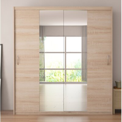 Zanders Armoire with Mirror Sliding Doors & Brayden Studio Zanders Armoire with Mirror Sliding Doors | Wayfair