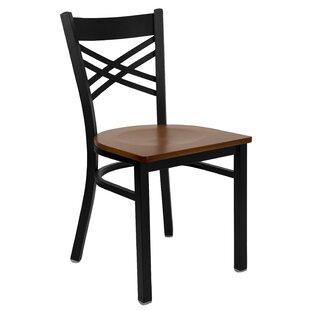 MacArthur Coated ''X'' Back Metal Restaurant Side Chair