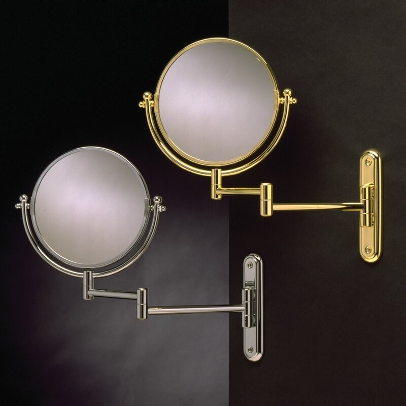 Wildon Home Wall Mount Swinging Arm Mirror Reviews Wayfair