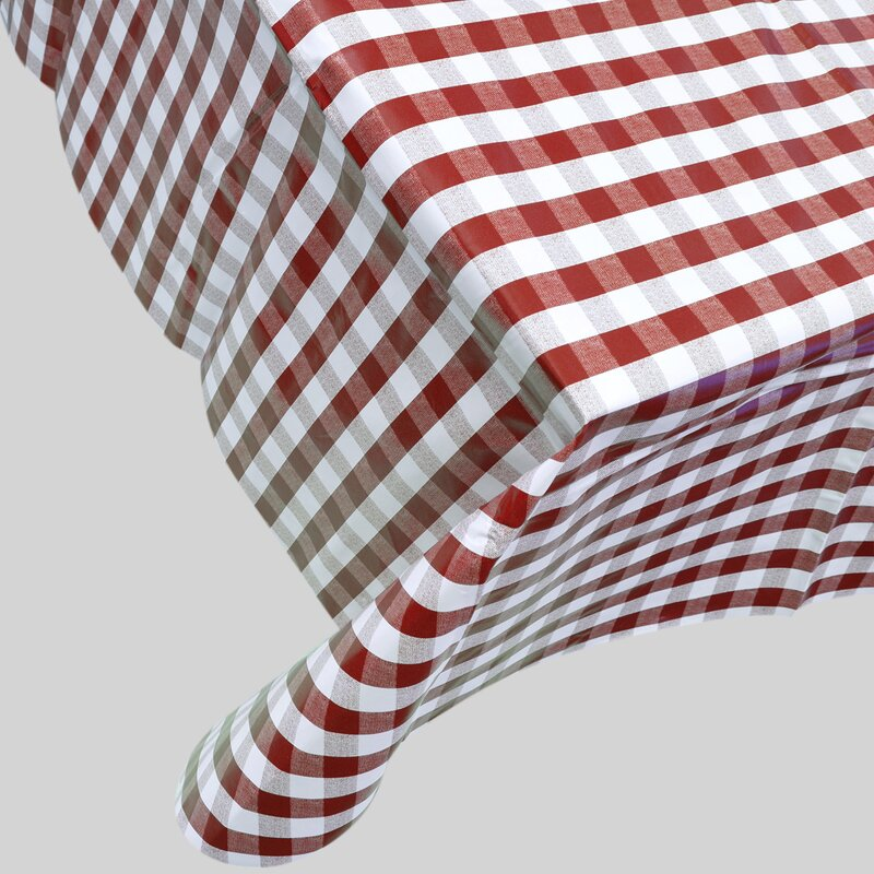 Berrnour Home Checkered Vinyl Indoor/Outdoor Tablecloth & Reviews ...