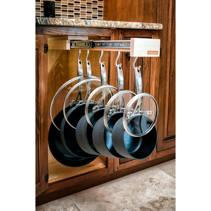 Glideware Kitchen Pot And Pan Organizer Hook With Ball Bearing Slide System