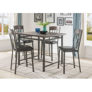 Gambino Counter Height 5 Piece Pub Table Set by August Grove