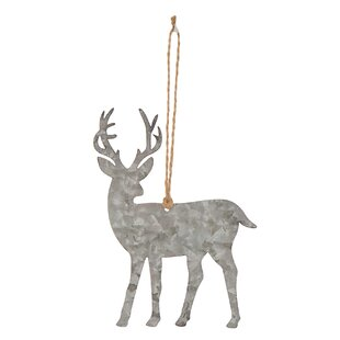 metal reindeer shaped ornament - Animal Christmas Decorations