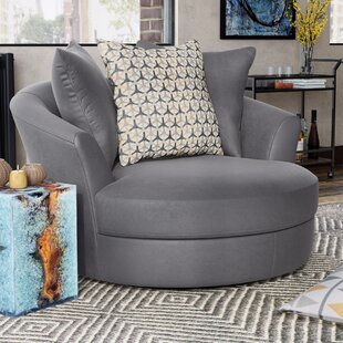 Brayden Studio Villela Swivel Barrel Chair
