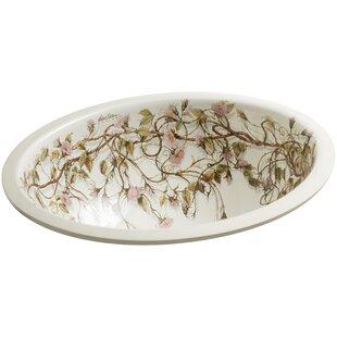 Kohler Briar Rose Ceramic Oval Undermount..