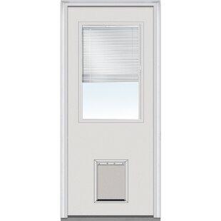 da81f0df3377 Pet Door Internal Grilles Glass Half Lite Primed Steel Prehung Front Entry  Doors
