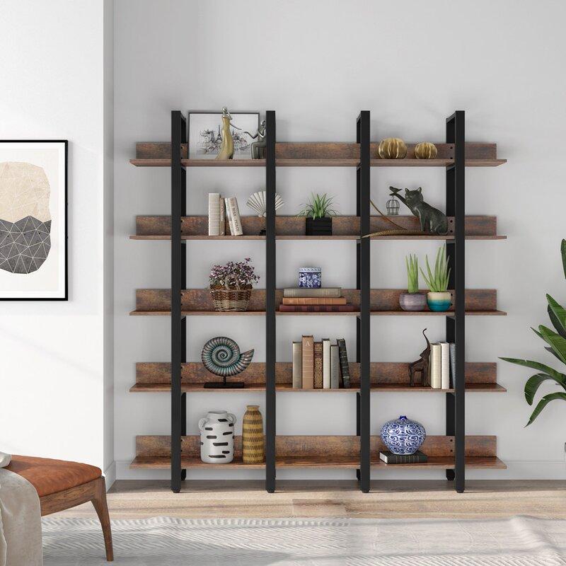 17 Stories Wynnewood 70.87'' H x 70.87'' W Standard Bookcase | Wayfair