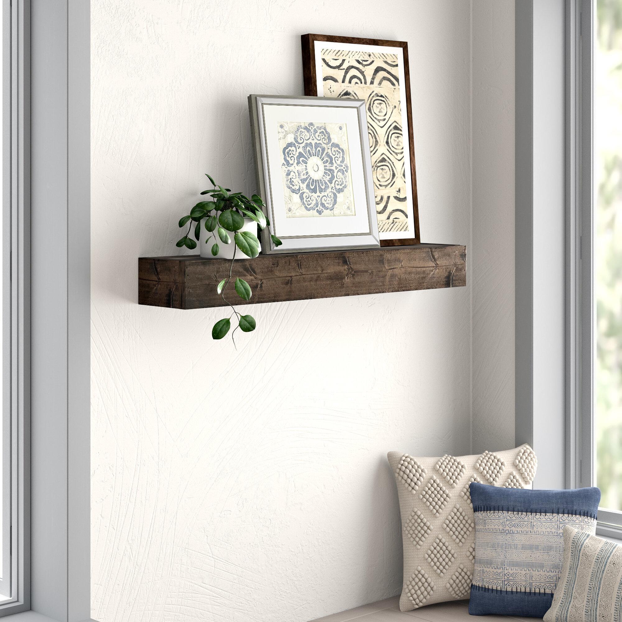 Mistana Kaydence Wood Floating Shelf Reviews Wayfair
