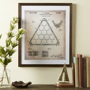 'Billiards' Framed Blueprint by Three Posts