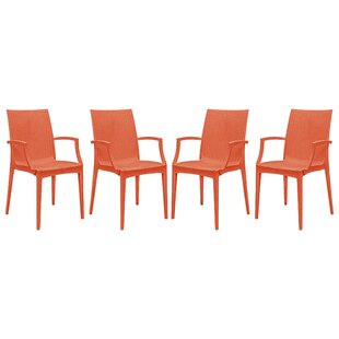 Quade Weave Stacking Patio Dining Chair (Set of 4)