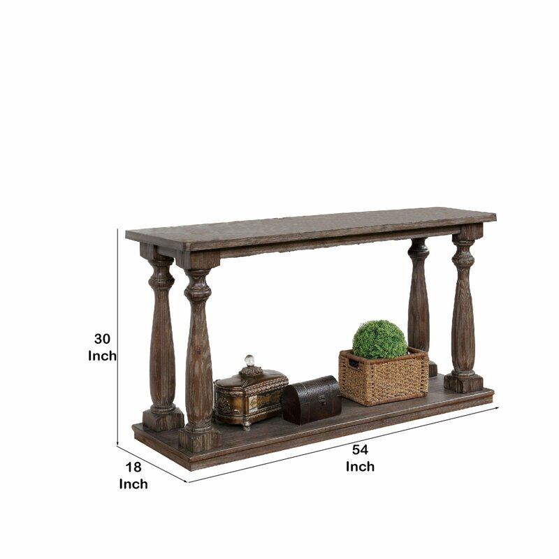 "Gracie Oaks Yulia 20"" Solid Wood Console Table 