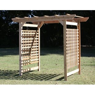Threeman Products Oversized Lattice Cedar Wood Arbor