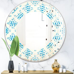 Wave Ornamental Pattern I Modern  Contemporary Frameless Wall Mirror by East Urban Home