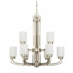 Winston Porter Arrington 9-Light Shaded Chandelier