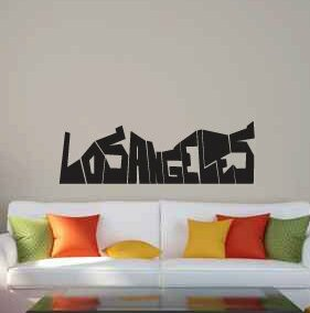 Delphinia Los Angeles Graffiti Wall Decal