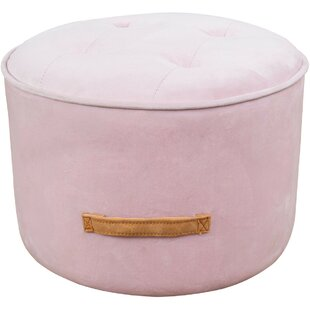Kewaunee Luna Blush Tufted Pouf by Mercer41