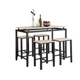 Jamarcus 5 - Piece Counter Height Dining Set by 17 Stories