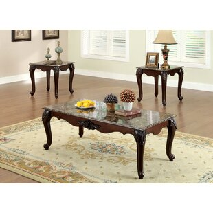 Vesperina 3 Piece Coffee Table Set by Astoria Grand