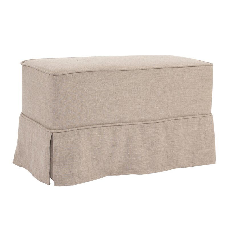 fit to ottoman stretch home sure up product fits jacquard garden damask slipcover