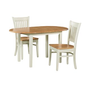 Shippy 3 Piece Extendable Solid Wood Dining Set by August Grove Modern